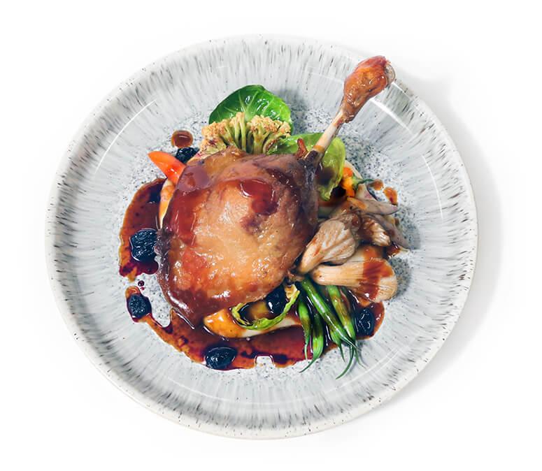 assiette de canard