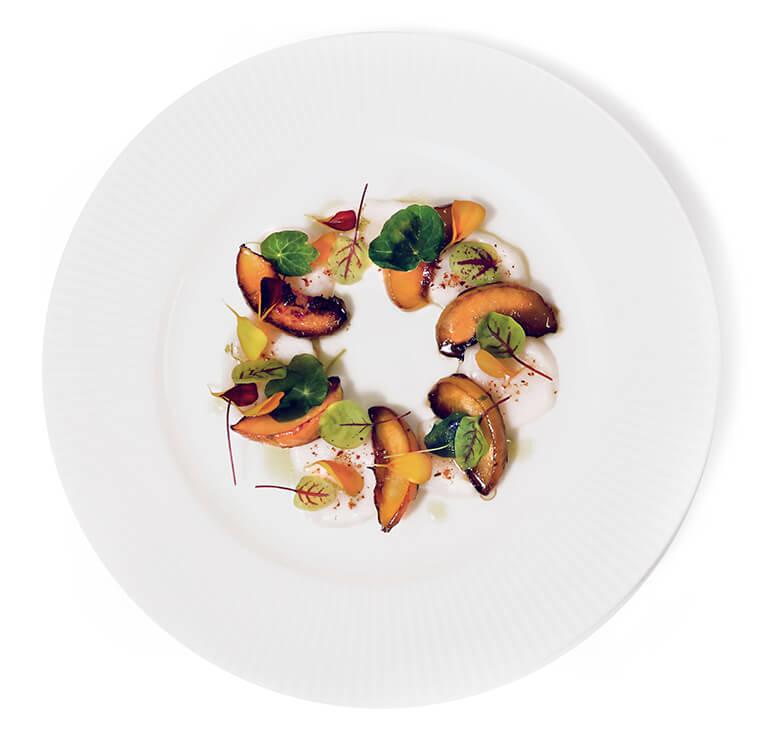 assiette de pétoncles
