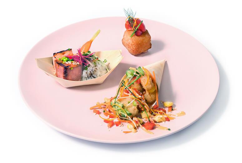 assiette de tacos traiteur