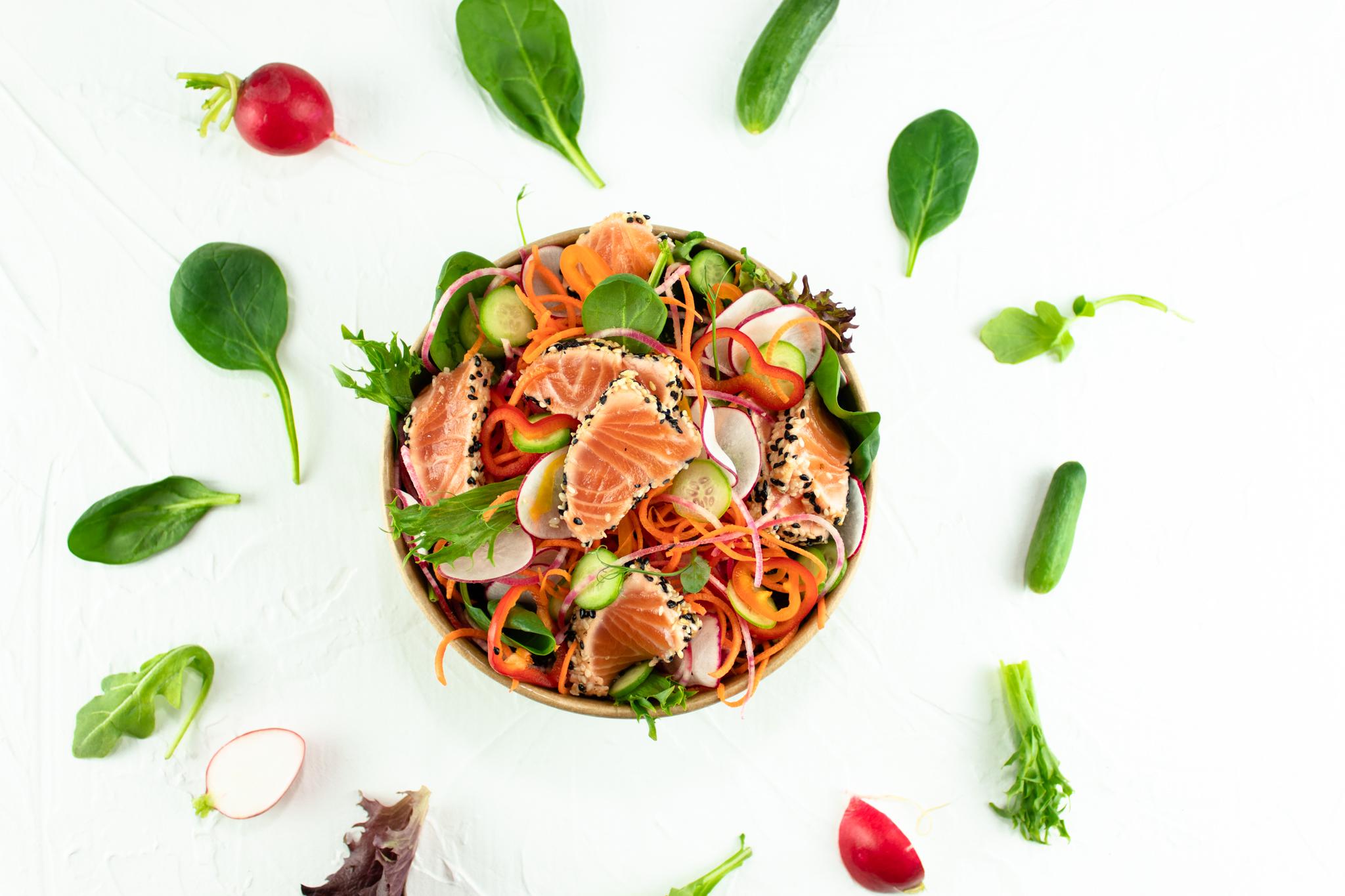 boite à lunch saumon